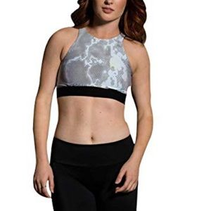 Onzie Strappy Racer Exercise Top Black Gray S/M